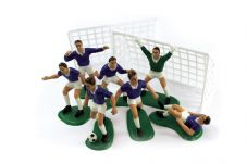 Football Cake Decoration Set in Blue